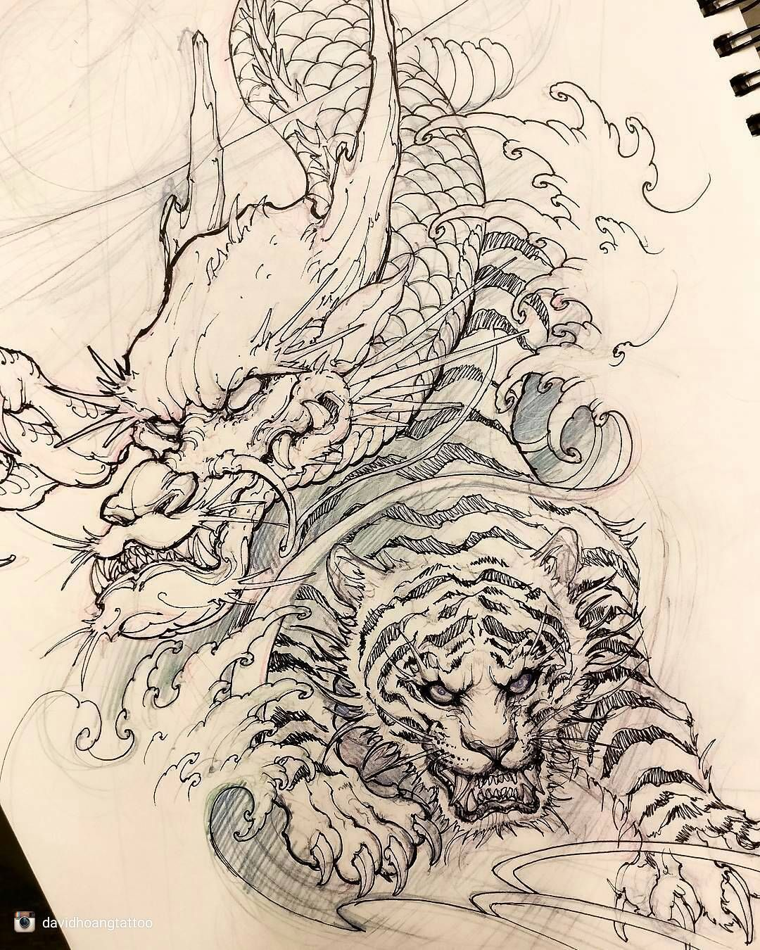 Sketch For A Japanese Sleeve: Pin By Dion Fascé On Tattoos Animals