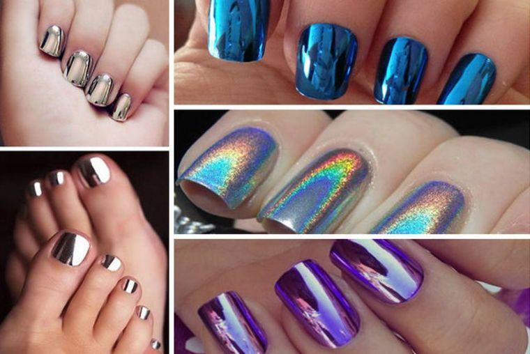 Uñas efecto espejo – última tendencia de moda en la decoración de uñas