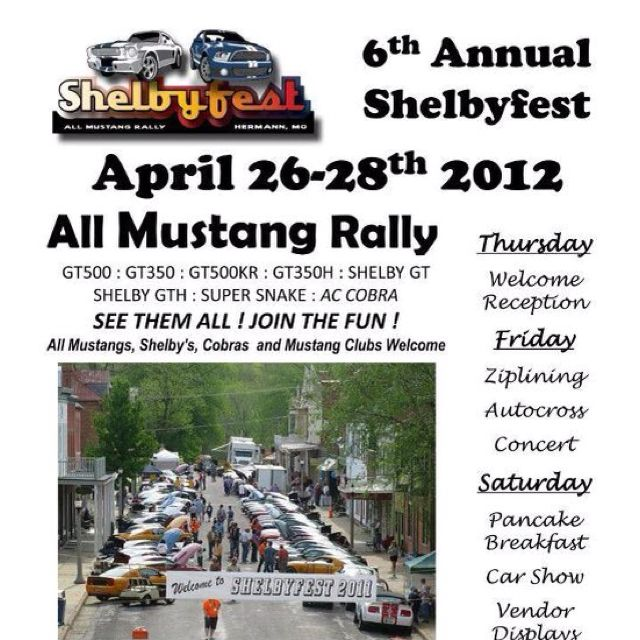 Shelby Fest is about to kick off for 2012.