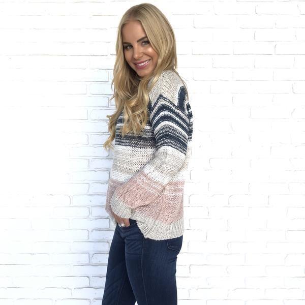 d997b6849d9def Block Stripe Knit Sweater | Appearance | Striped knit, Sweaters
