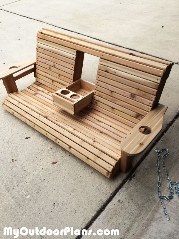 Diy wood porch swing myoutdoorplans free woodworking for Build porch swing plans