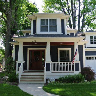 Taylor Street Residence Craftsman Exterior Detroit By William J Thomas Studios Craftsman Exterior Craftsman Porch Craftsman House