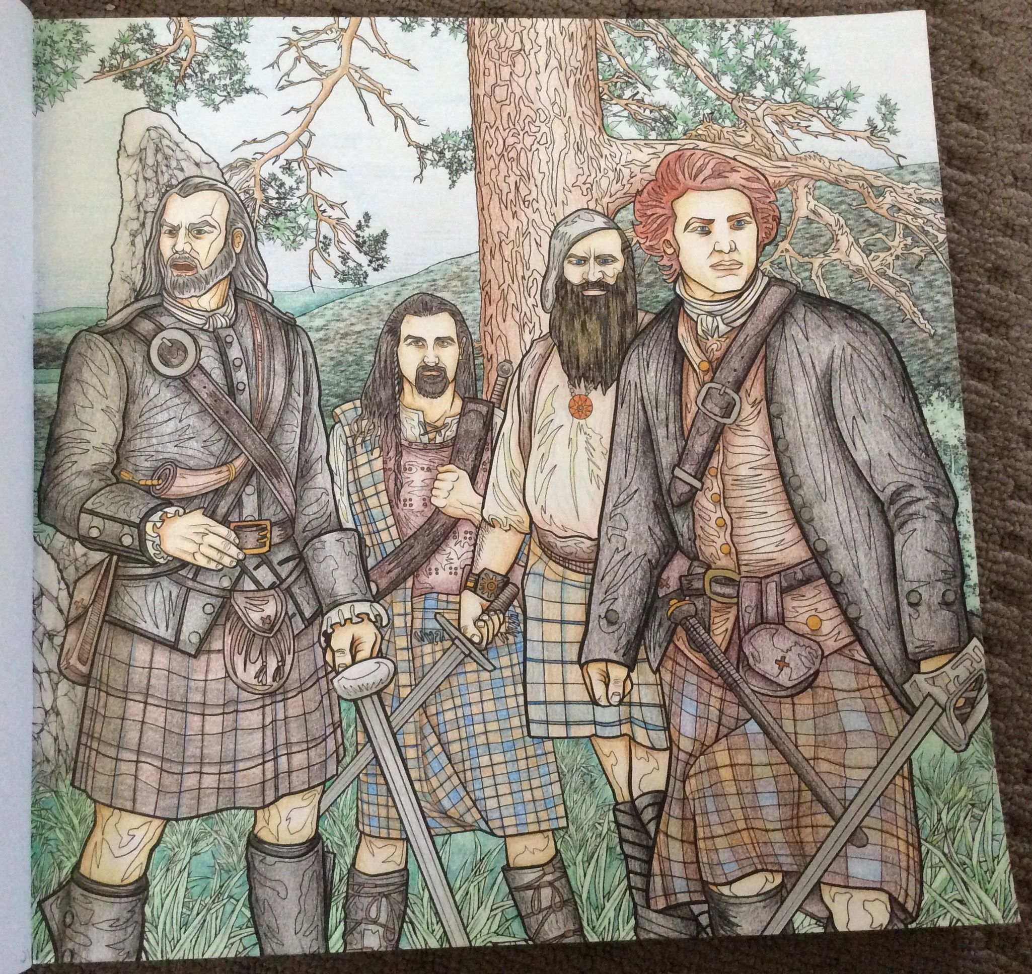 Official Outlander Coloring Book Page 21 Coloured By Chris Hajjar Of Obsession