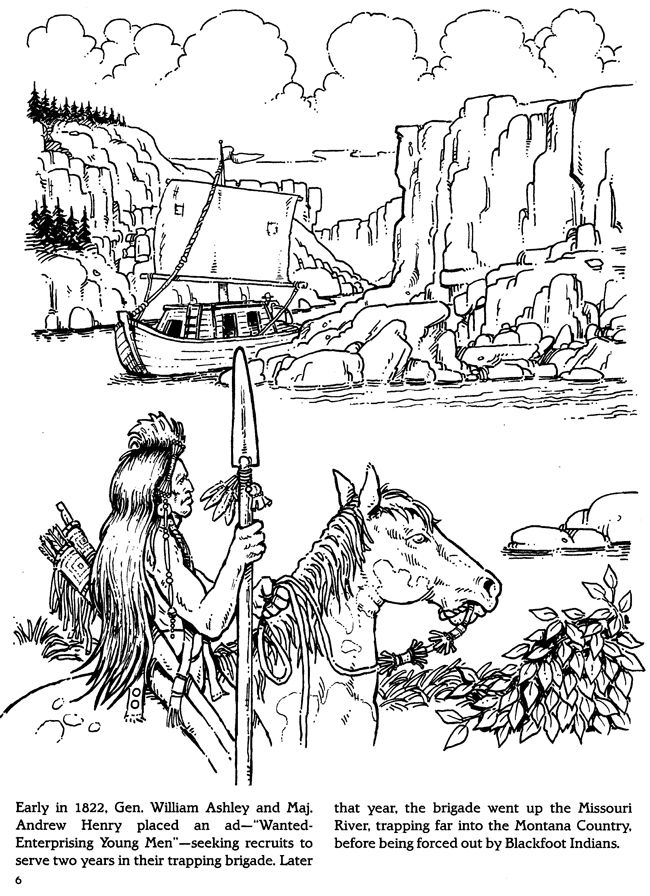 fur trade coloring pages - photo#10