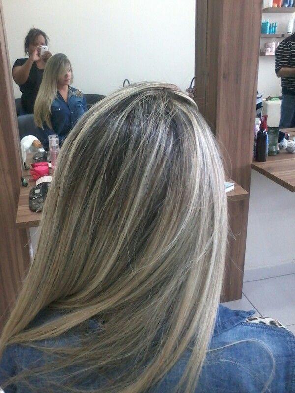 Mechas platinadas by silvana fortes canelos pinterest balayage hair style and hair coloring - Como hacer mechas en casa sin gorro ...
