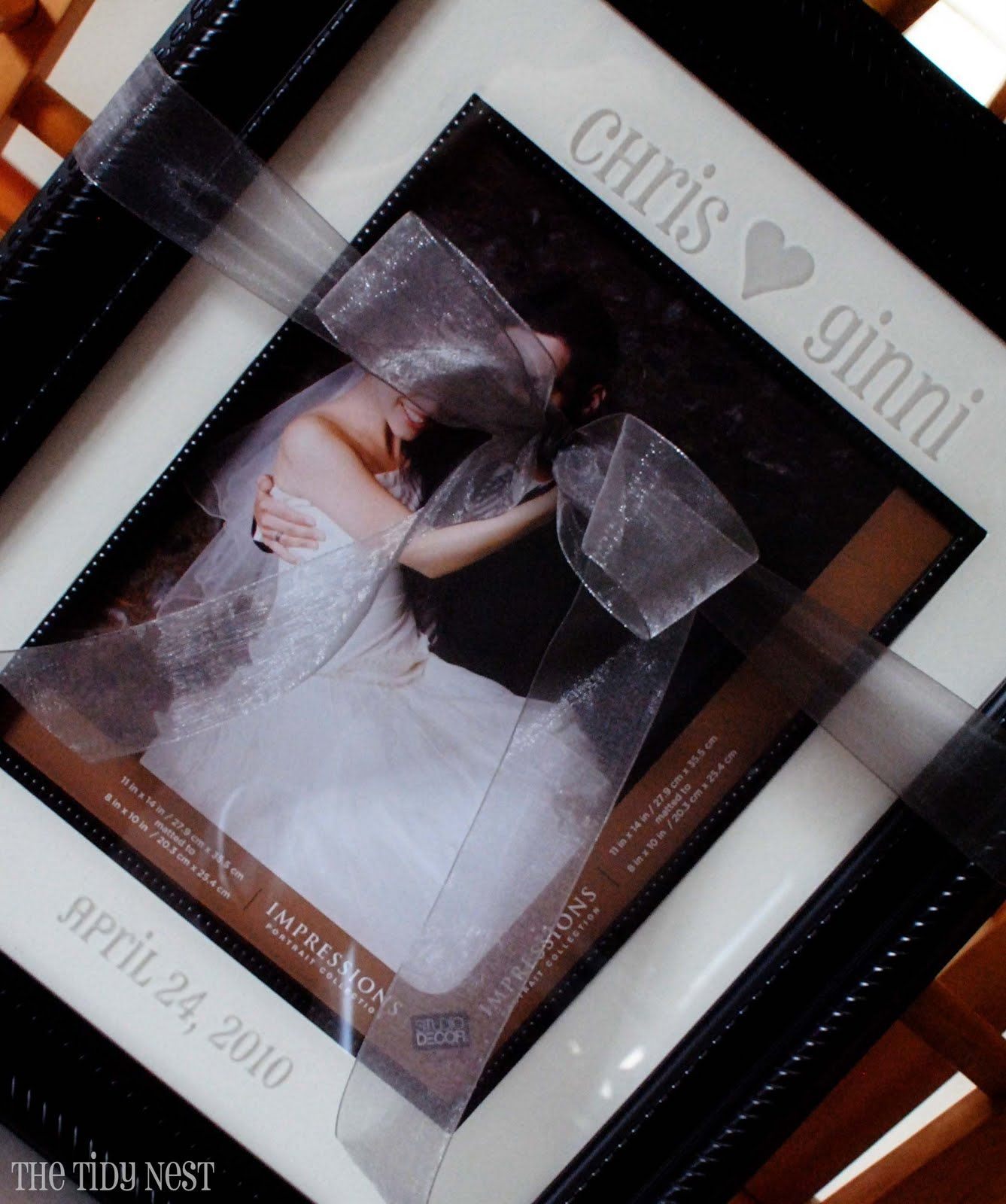 Etched Glass Picture Frame - Used vinyl instead of etching, turned ...