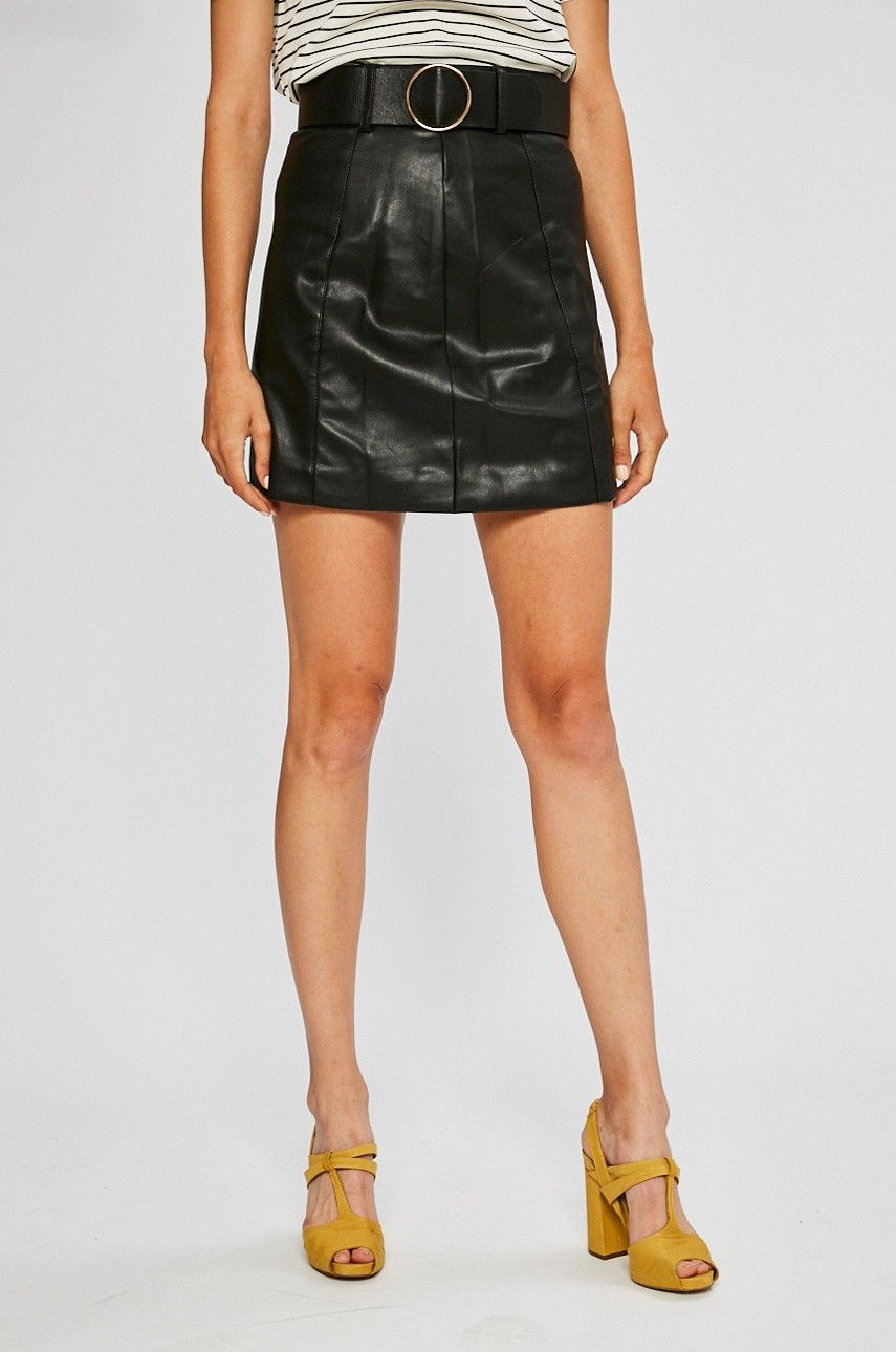 70952216 różowa spódnica   spódnica za kolano   spódniczka w kratkę h&m ...