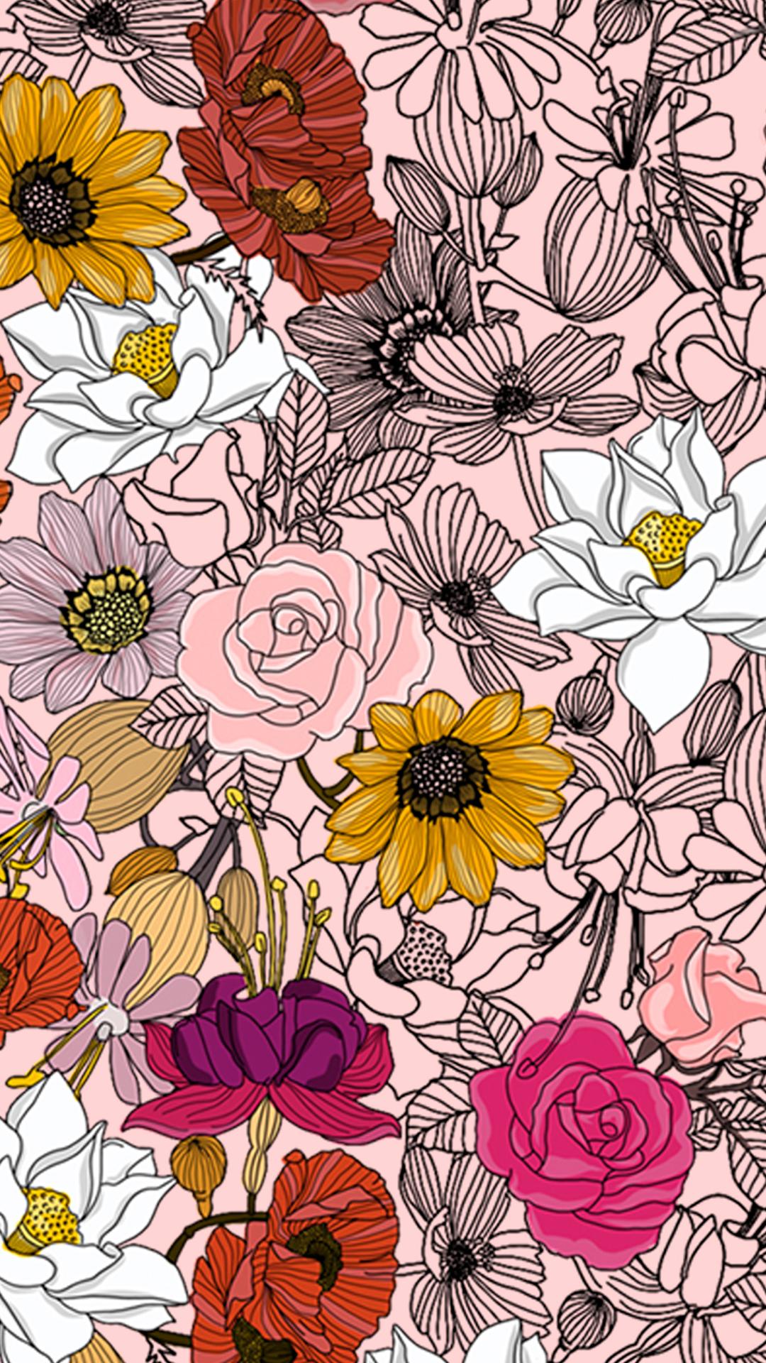 Wallpaper Flores Diversas by Gocases