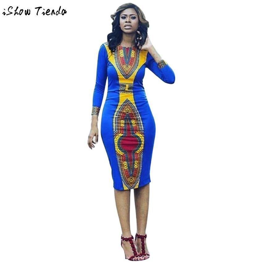 아프리카 여성 의류 다시 키 기하학적 인쇄 아프리카 드레스 여성 Jupe Africaine 팜므 #2802