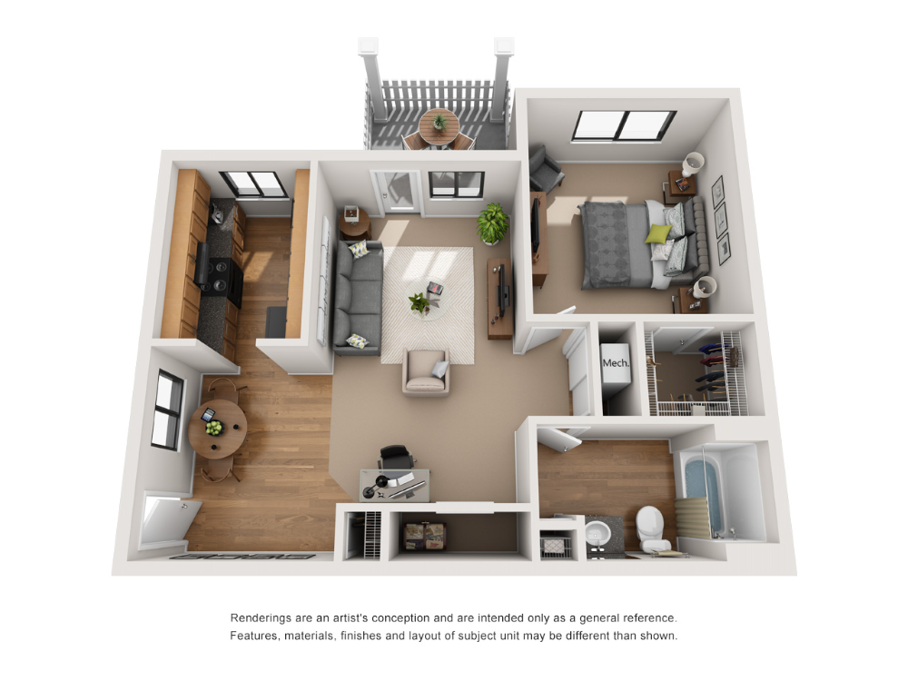 One and Two Bedroom Apartments in Indianapolis, IN (With