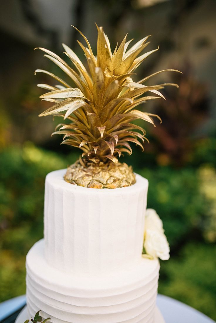 Gold Pineapple Cake Topper Wedding Cake Pinterest Pineapple - Pineapple Wedding Cake