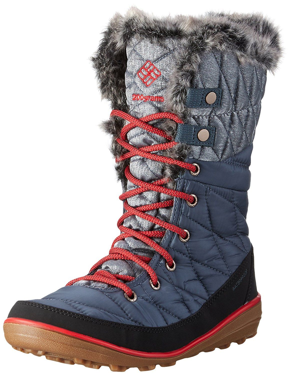 Fur lined collar PU Leather BOOTS New Women Winter Rain Snow Boots Size 10.5 M