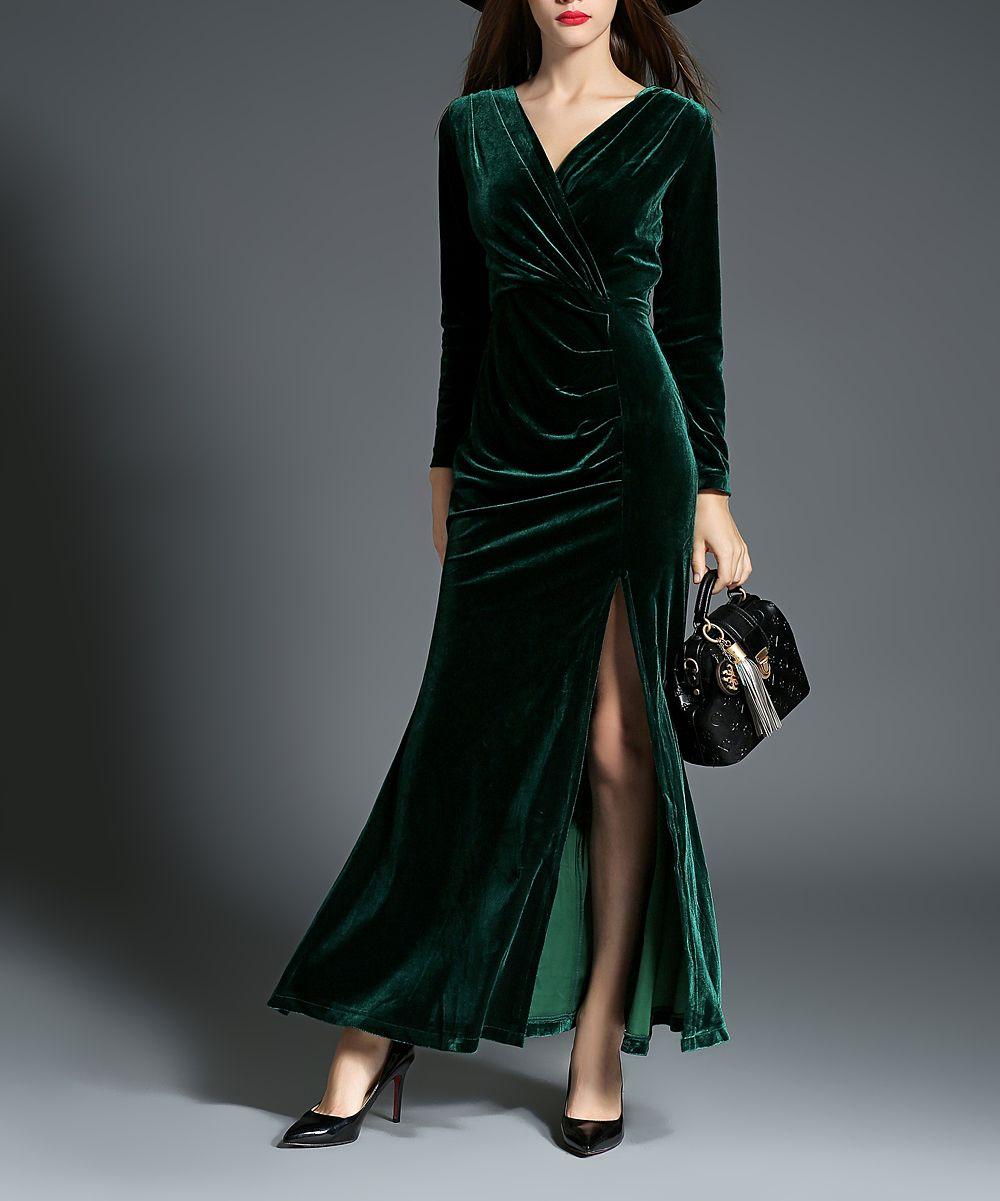 Green velvet maxi dress beautiful clothes pinterest green