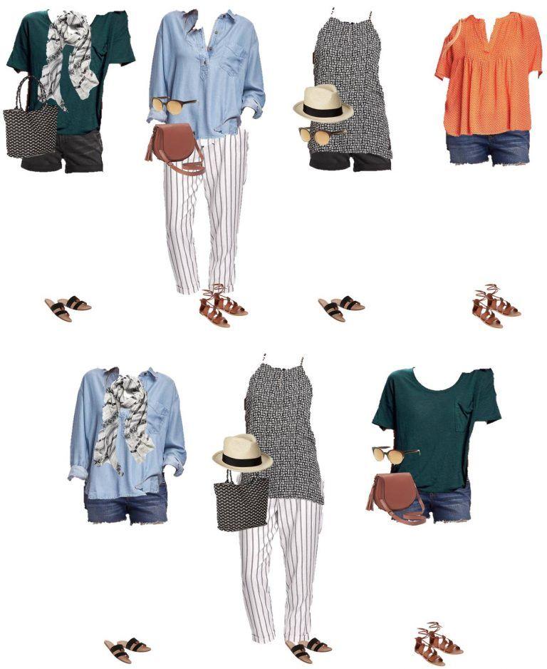 Summer Travel Capsule Wardrobe - Travel Light #travelwardrobesummer