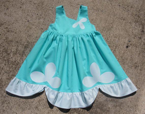 Trol de amapola vestido inspirado.  Vestido de princesa para