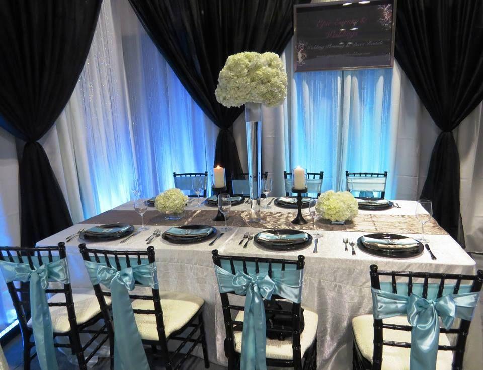 Epic Events At The Wedding Fair 2013 Ice Blue Black And White Decor Black And White Decor Wedding Fair Kijiji