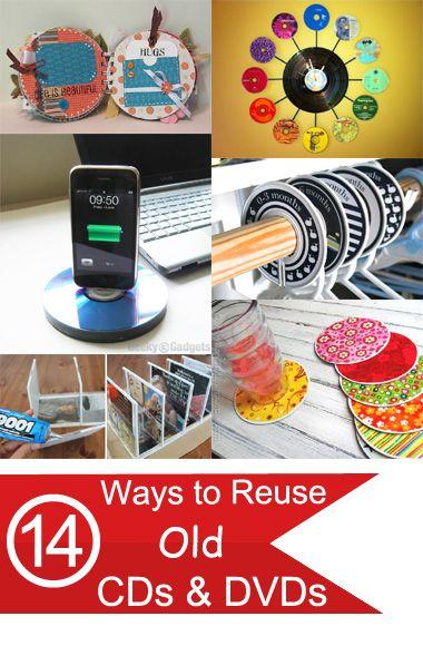 14 ways to reuse old cds dvds ccso pinterest basteln mit cds cd h llen und schallplatte. Black Bedroom Furniture Sets. Home Design Ideas