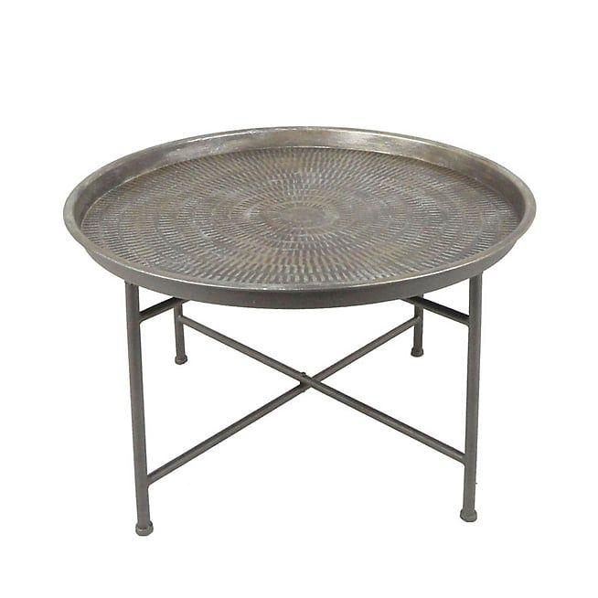 Alana Table Basse Ronde En Metal Martele D65cm Table Basse Ronde Table Basse Metal Table Basse