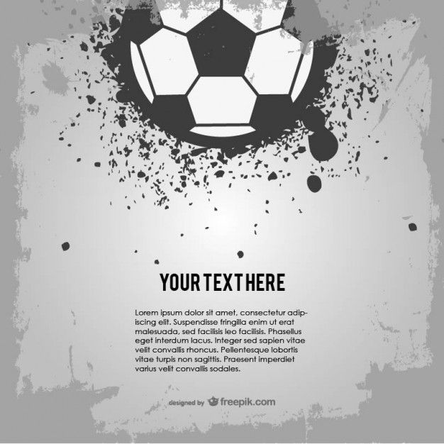 Soccer Ball Grunge Design Free Vector Graphics Free Vector Art Wallpaper Background Design