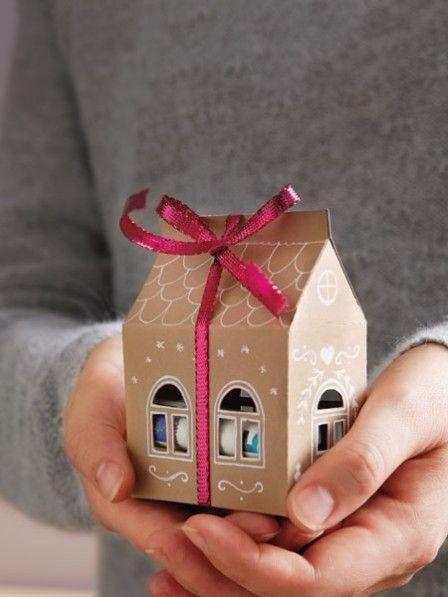 Süßes Papierhaus: Bargeld hübsch verpackt #crochetformoney