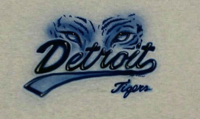 Airbrush Detroit Tigers T-shirt