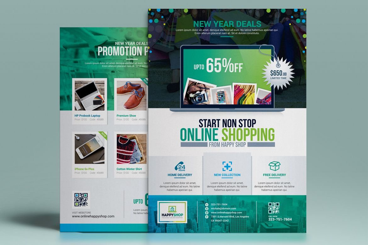 Product Promotional E Commerce Business Flyer Poster Template Double Side Design Corporate Identity Template 67749