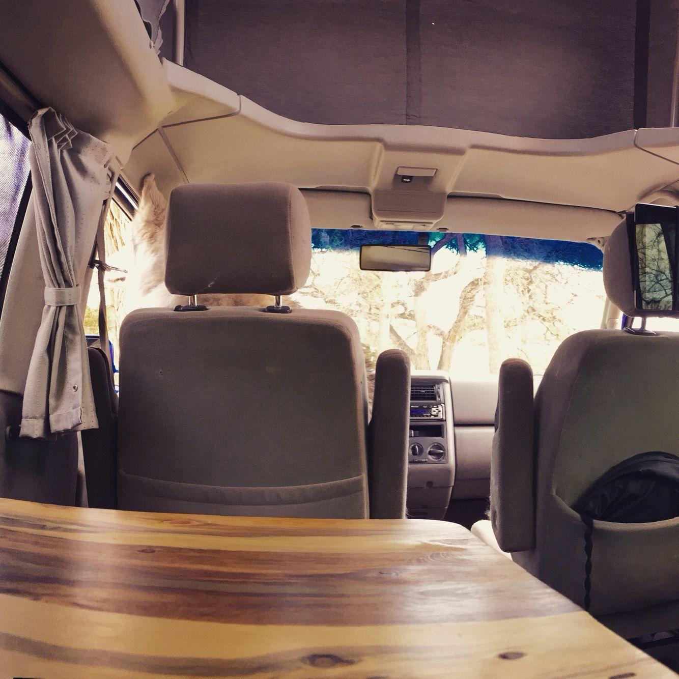 Blue Pine Interior In Custom Vw Eurovan Westfalia Weekender Cavevan Com Pinterest Van Life