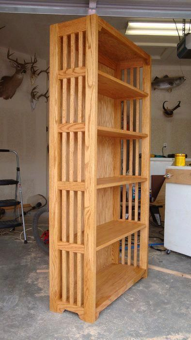 Mission style bookcase #WoodworkingPlansBookcase