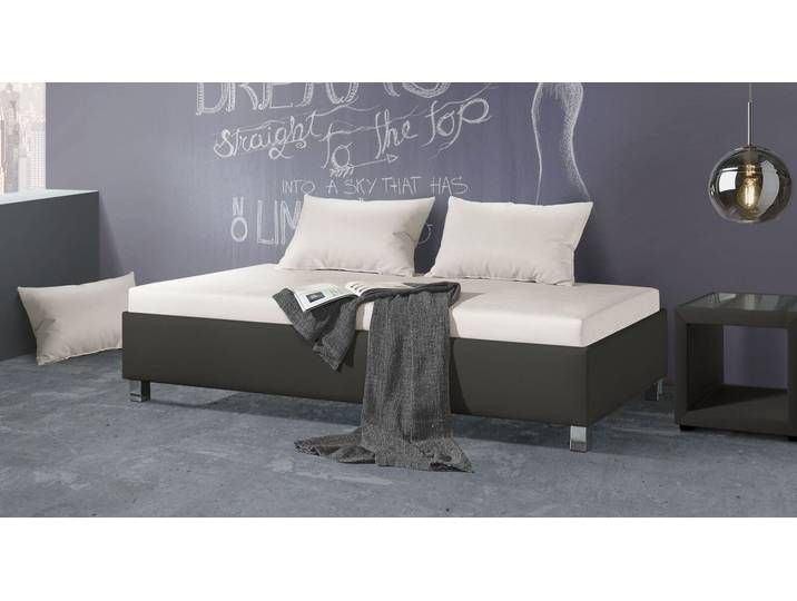 Photo of Relaxliege 100×200 cm taupe in puristischem Design – Lisala – Polsterl
