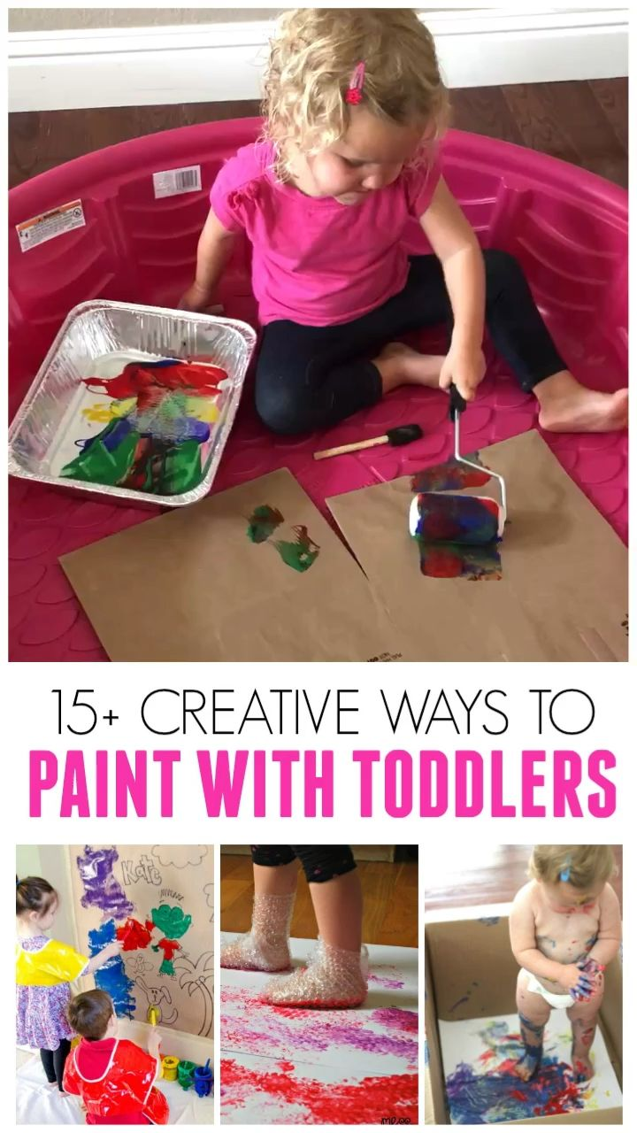 15 Awesome Ways to Paint with Toddlers