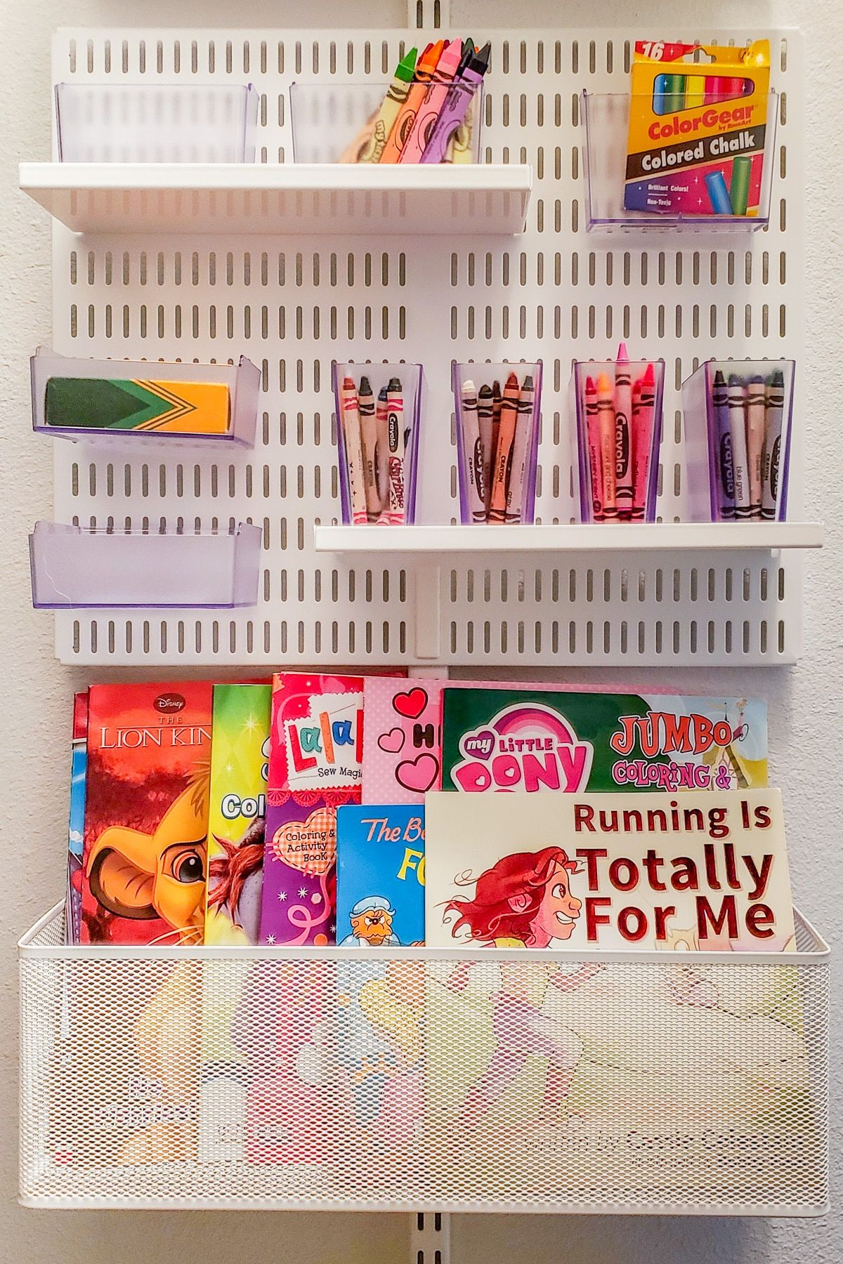 How To Organize Crayons Coloring Books Small Closet Storage Coloring Book Storage Small Closet Organization
