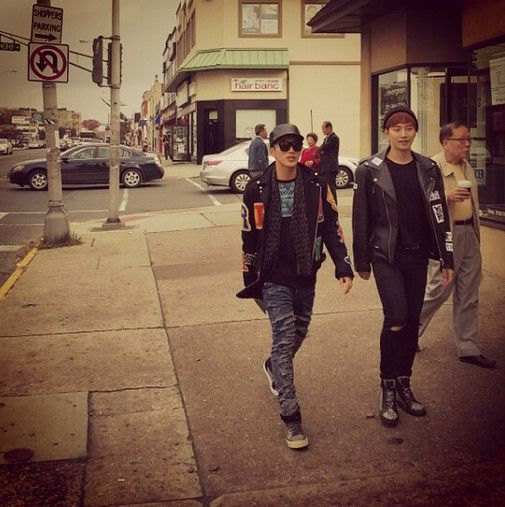 2PM Junho & Jun.K, The Two Fashionistas In New York http://www.kpopstarz.com/articles/135959/20141114/2pm-junho-jun-k-the-two-fashionistas-in-new-york.htm