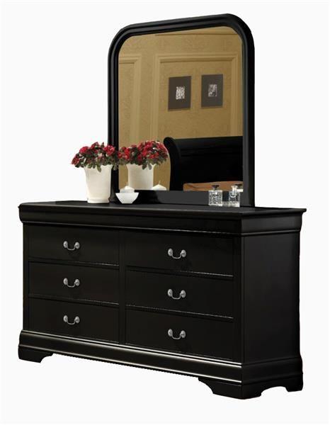 Louis Philippe Transitional Black Wood Dresser