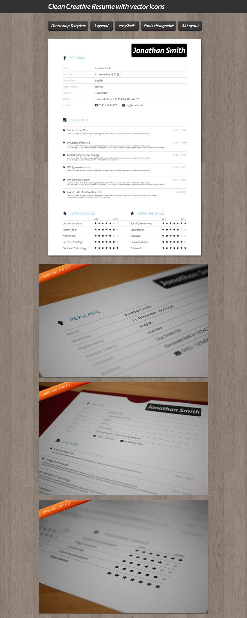 Resume | Graphic Design - Inspiration | Pinterest | Currículum y ...