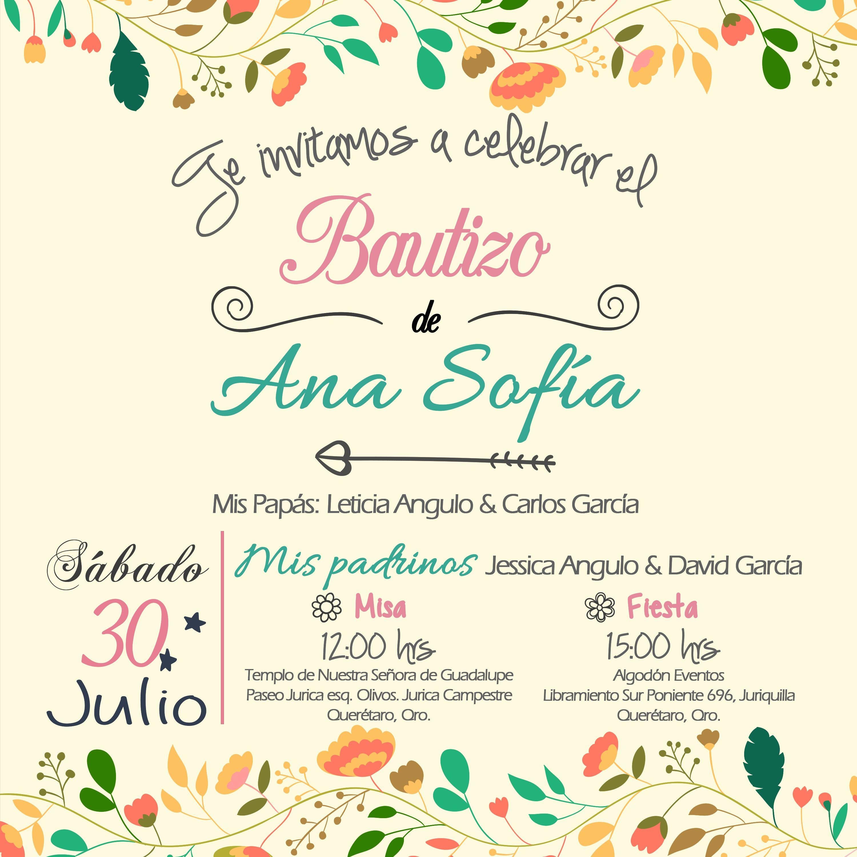 Bautizo Invitaciones Personalizadas Las Creamos A Partir