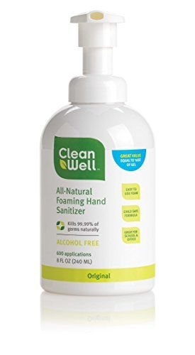 Amazon Alcohol Free Cleanwell Natural Foaming Hand Sanitizer 3