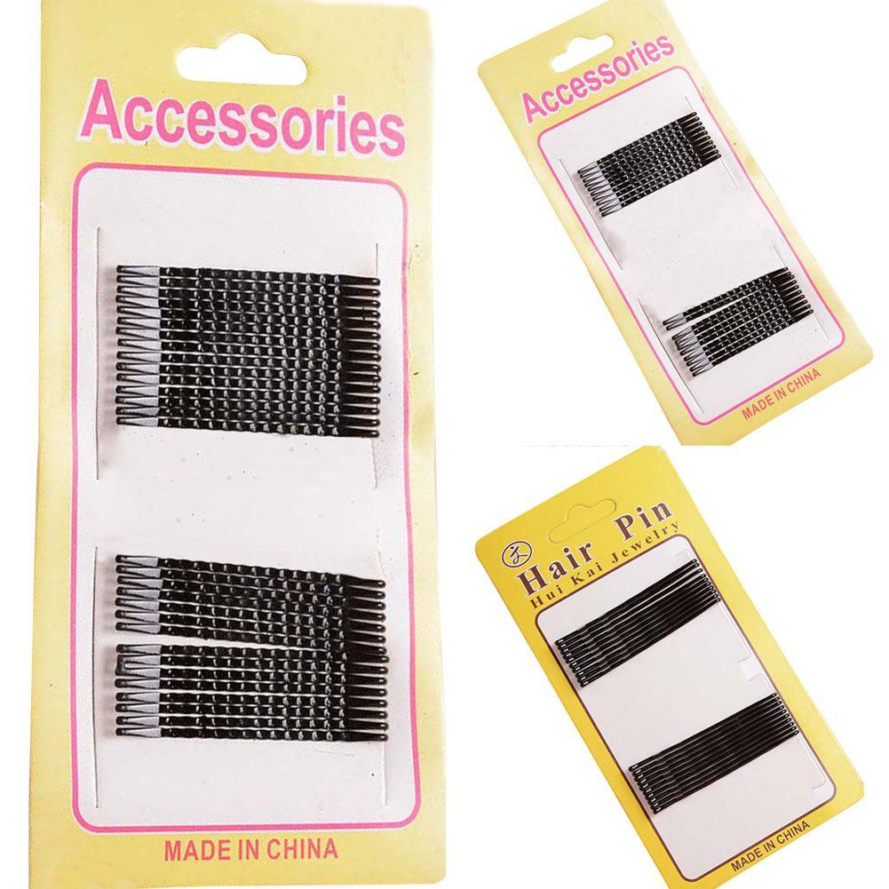 Herramientas de Peinado del cabello de la Mujer Invisible Horquillas Del Pelo de la Onda Grips Salon Barrette de la Horquilla Del Pelo Clips Barrette de Las Señoras Negro