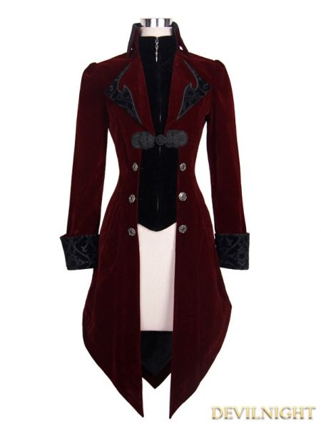 90979c28589 Red Vintage Gothic Swallow Tail Jacket for Women | Things to Wear in ...