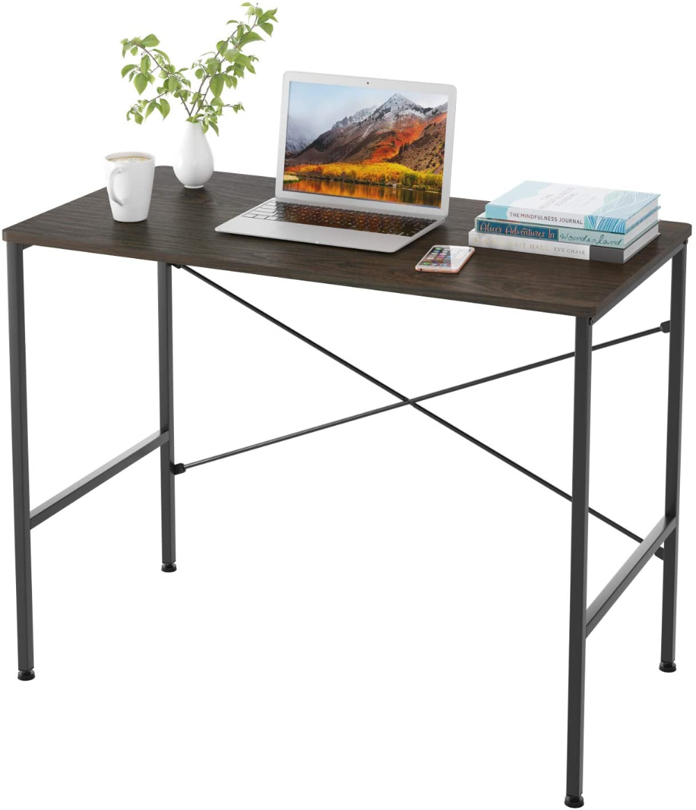 Amazonsmile Homfa Writing Computer Desk 39 4l X 20 5w X 29 9h Inch Sturdy Laptop Notebook Desk Simple Simple Desk Table For Small Space Modern Computer Desk Computer desk 40 inches wide