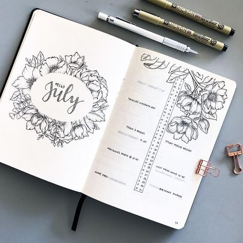 """""""Mi piace"""": 604, commenti: 49 - K (@bumblebujo) su Instagram: """"I'm still in the process of setting up my August spread, I'm so behind . In the meantime, I don't…"""""""
