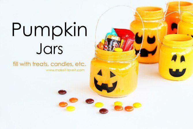 Pumpkin Jars: Add treats, candles, or nothing at all... | Make It and Love It