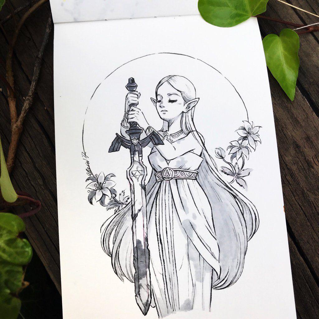Twitter Zelda Botw Master Sword Drawing Legend Of Zelda Tattoos