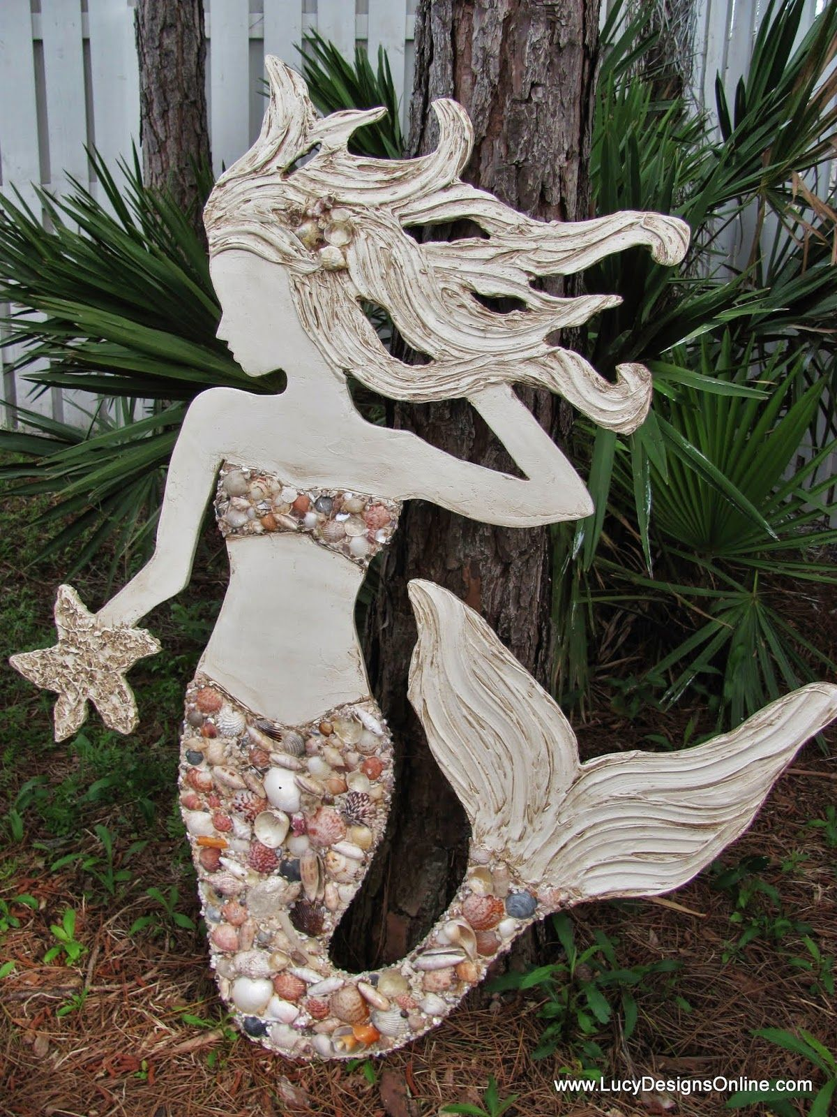 Wooden Mermaid Wall Art make a wood mermaid for wall decor + diy + inside decor or porch +