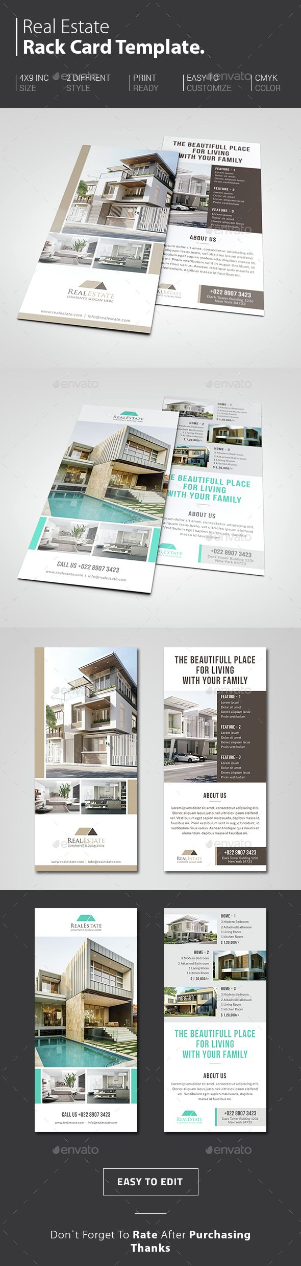 Real Estate Rack Card  Card Templates Real Estate And Brochures