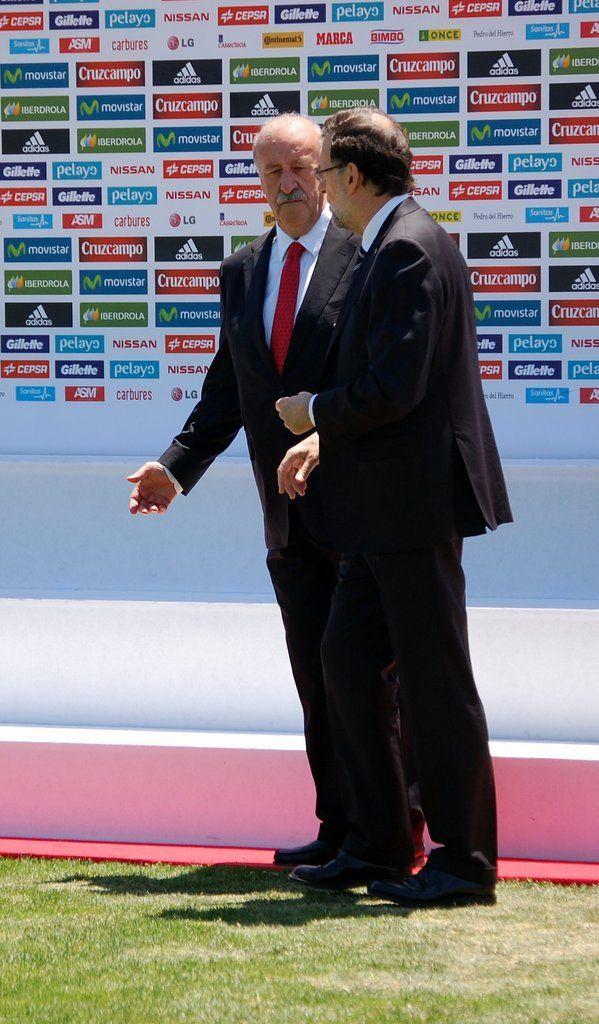 Del Bosque y Rajoy antes del Mundial de Brasil 2014 #seleccionespanola #LaRoja #diariodelaroja