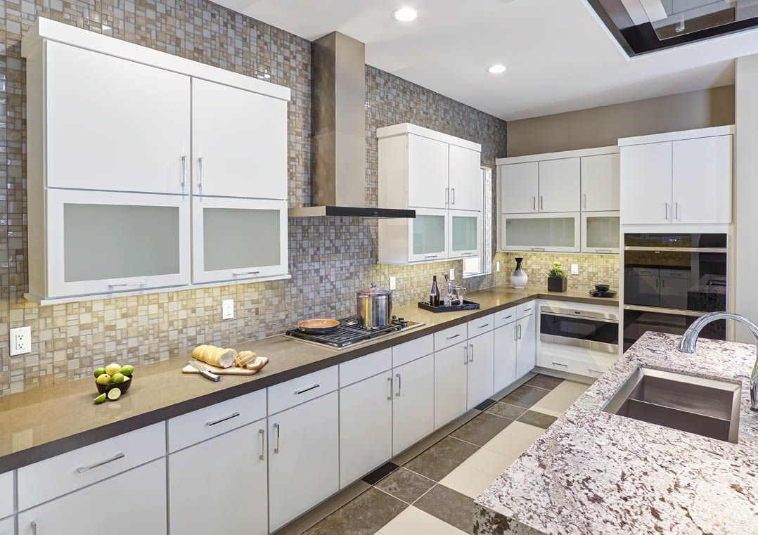 Have You Considered Top Hinge Wall Cabinets In Your Kitchen Couple That With Glas Stylish Small Kitchen Kitchen Design Small Kitchen Cabinets And Countertops