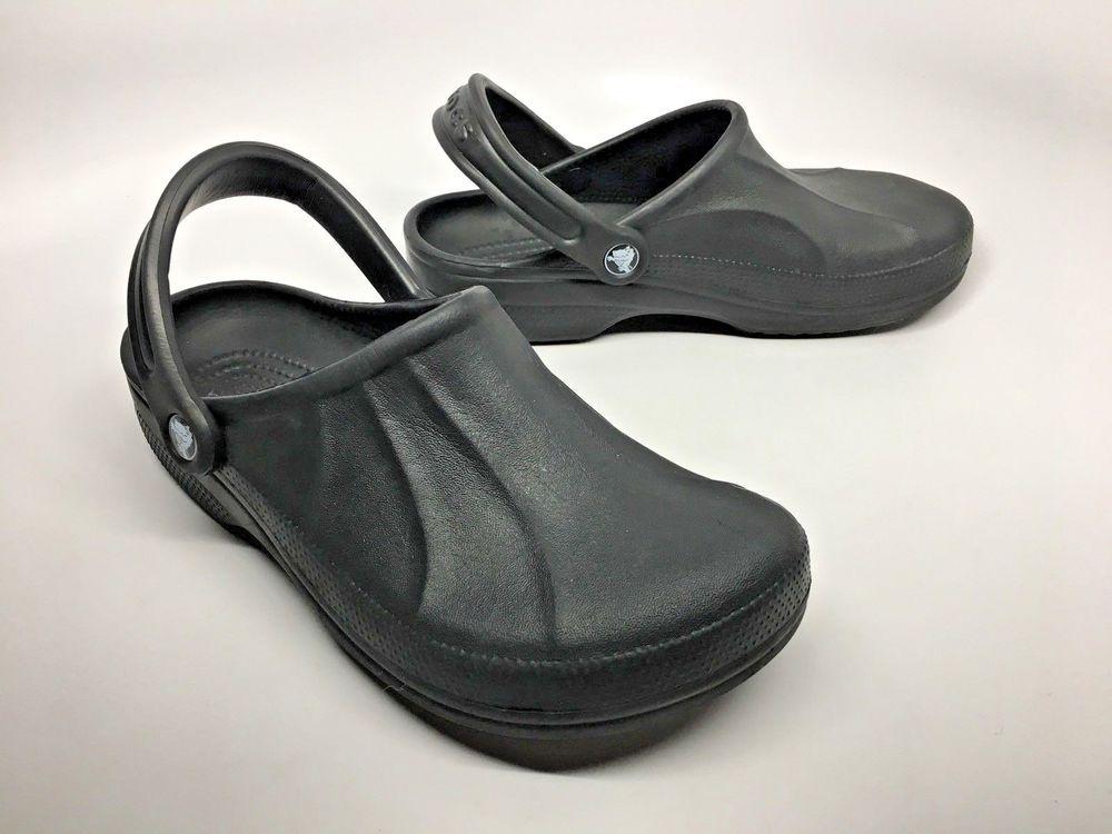 95ba20fec95813 CROCS Baya Closed Toe Slingback Black Clogs Unisex M6 W8 Full Croslite  Sandals  Crocs  Clogs