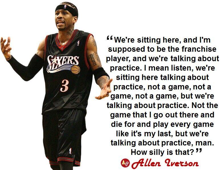 Allen Iverson quote Allen iverson, Sports quotes, Sports