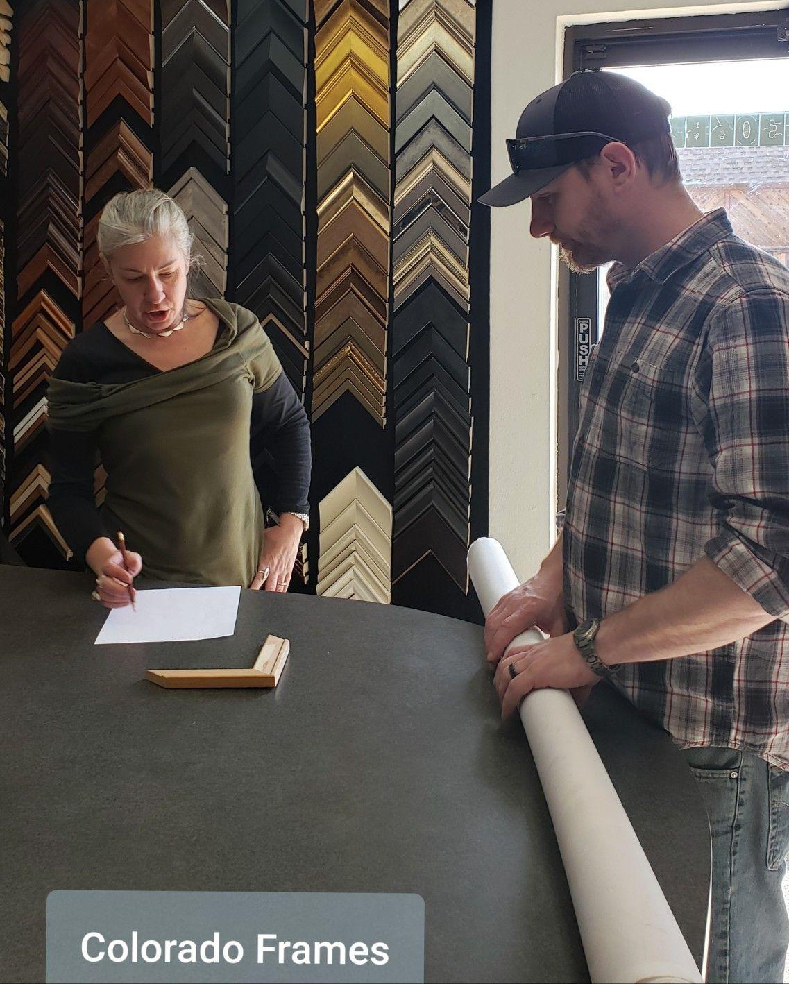 Working with Colorado artist Jay Koehler Plein air frame