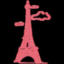Brushe Da Torre Eiffel Cor De Rosa Cor De Rosa Cores Torre Eiffel
